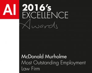 AI 2016's EXCELLENCE Awards McDonald Murholme Most Outstanding Employment Law Firm