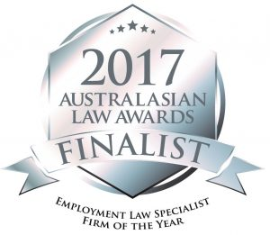 2017 AUSTRALASIAN LAW AWARDS FINALIST EMPLOYMENT LAW SPECIALIST FIRM OF THE YEAR