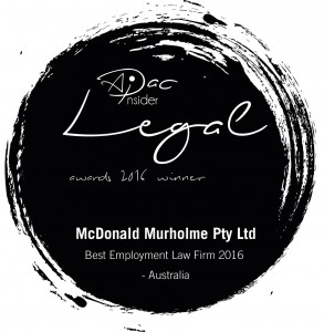 McDonald Murholme Pty Ltd Best Employment Law Firm 2016 Australia