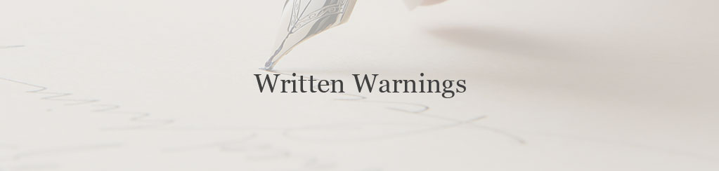 Written Warning